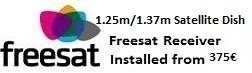 1.25m satellite dish installations for uk tv freesat costa blanca spain