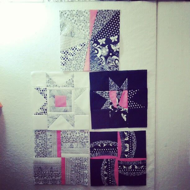 Mary's stripper blocks done. Anyone else see what I've tried to accomplish here?