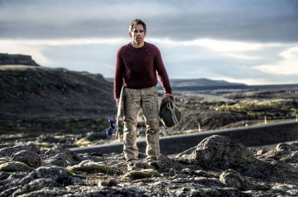 Venturing around Iceland, Walter Mitty (Ben Stiller) is about to ride a skateboard down a mountain road in THE SECRET LIFE OF WALTER MITTY.