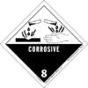 Tanda bahaya untuk asam klorida: korosif