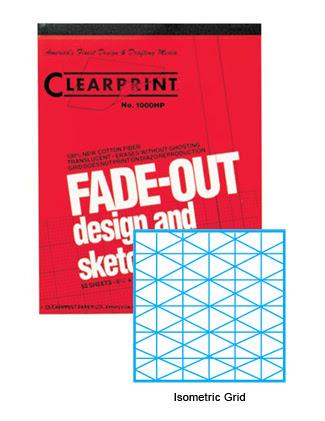 Clearprint 1000hp Iso 16lb Design Vellum Isometric Fade Out Grid Pad