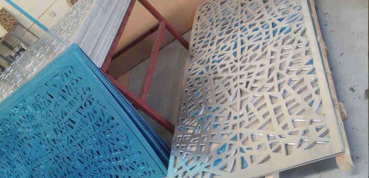 Aluminum Cnc Cutting Panel Mashrabiya In Architecture Building And