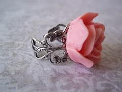 rose ring on filigree
