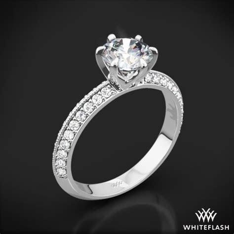 Knife Edge Pave Diamond Engagement Ring   712