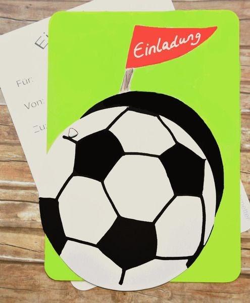 kindergeburtstagskarten zum ausdrucken fußball