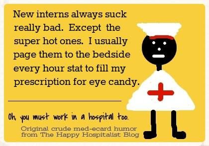 New interns always suck really bad nurse ecard humor photo
