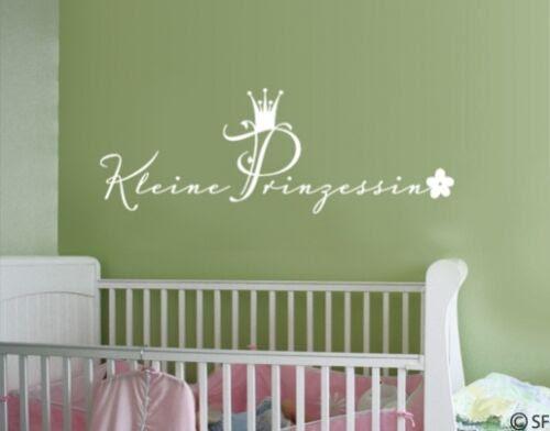 Wandtattoo Kleine Prinzessin Kinderzimmer Wandaufkleber Baby Madchen Uss218