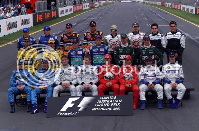 Pilotos participantes en el Gran Premio de Australia de 2001