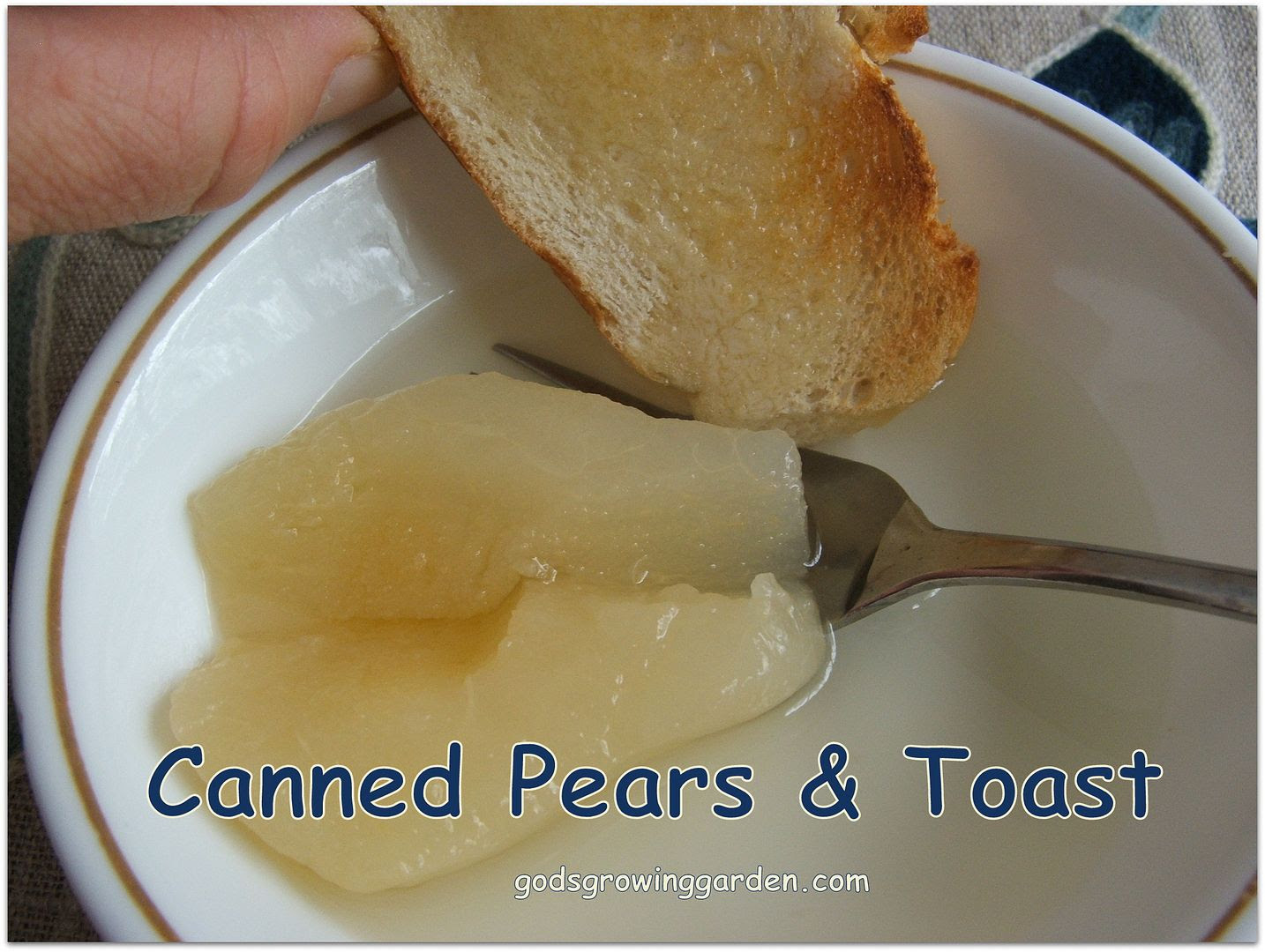 Canned Pears & Toast by Angie Ouellette-Tower for godsgrowinggarden.com photo 006_zpsaf5eb6cd.jpg