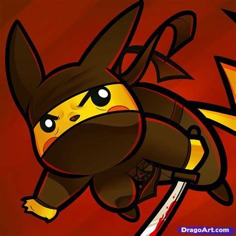 draw ninja pikachu ninja pikachu step  step