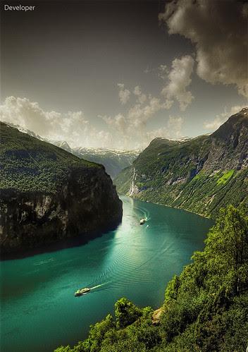 Norway - Geiranger Fjord por Faisal!