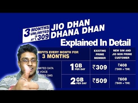 Jio Dhan Dhana Dhan Offer  ₹309,₹408,₹509,₹608 - 4G Daily Explained in Detail Jio New Offer