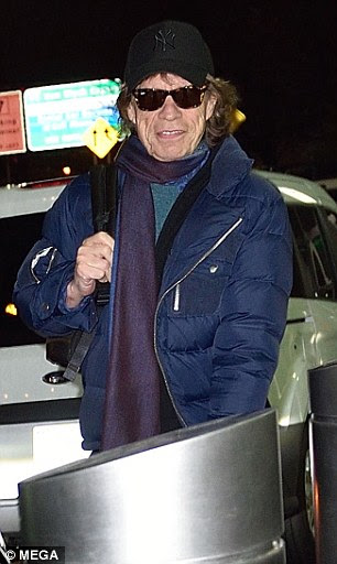 Mick Jagger disse ter voado 3.500 milhas de Londres a Nova York para ser com o seu parceiro para o nascimento