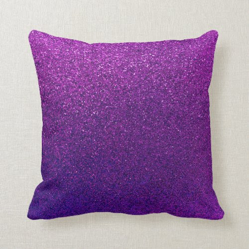 Faux Purple Violet Glitter Background Sparkle Throw Pillows