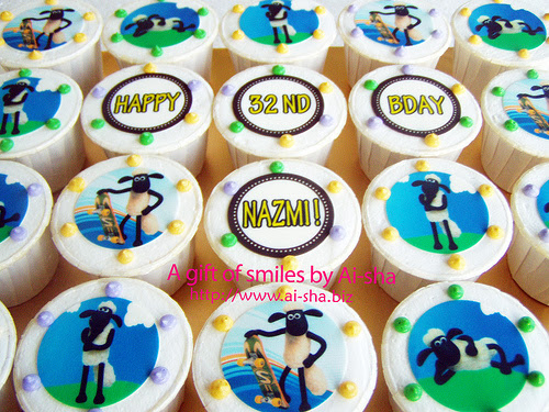 Birthday Cupcake Edible Image Shaun the Sheep