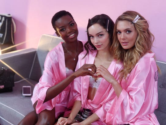 Maria Borges (from left), Luma Grothe and Megan Williams