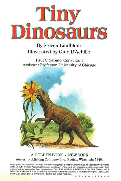 Tiny Dinosaurs title page