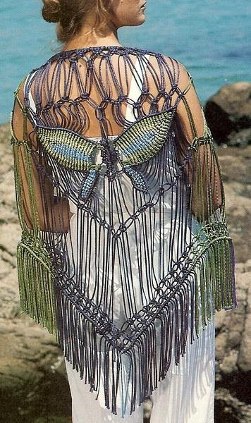 Macrame Butterfly Shawl