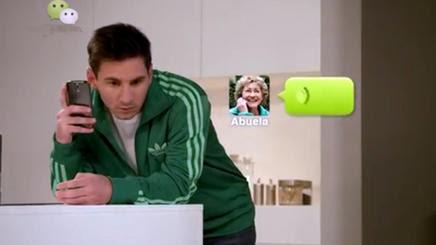 We Chat con Leo Messi de imagen
