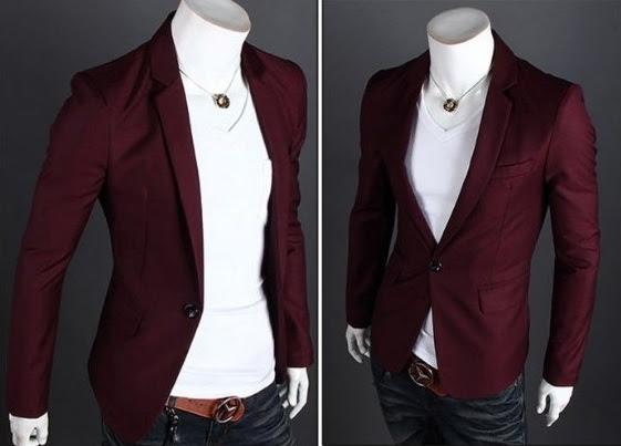 Blazer Fashion Moderno de un Boton - Ideal para la Noche - Rojo