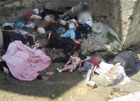Συρία: Άνδρες γυναίκες και παιδιά ενός κατώτερου Θεού!! Σοκαριστικές φώτο και βίντεο από την σφαγή στην πόλη Μπανιάς...
