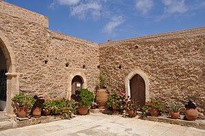 English: Toplou monastery (Moni Toplou), Crete...