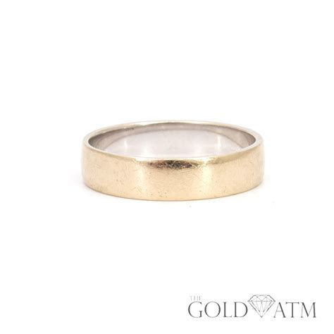 14K Combination Yellow and White Gold Men's Wedding Band