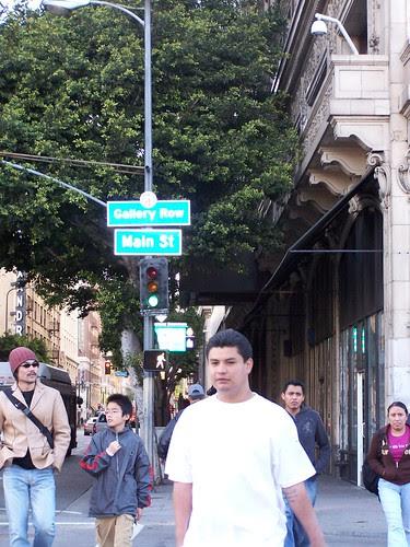 Gallery Row neighborhood sign