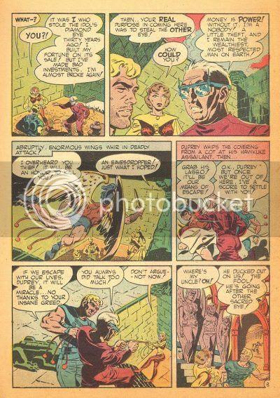 Buck Rogers style heroes battle Winged aliens