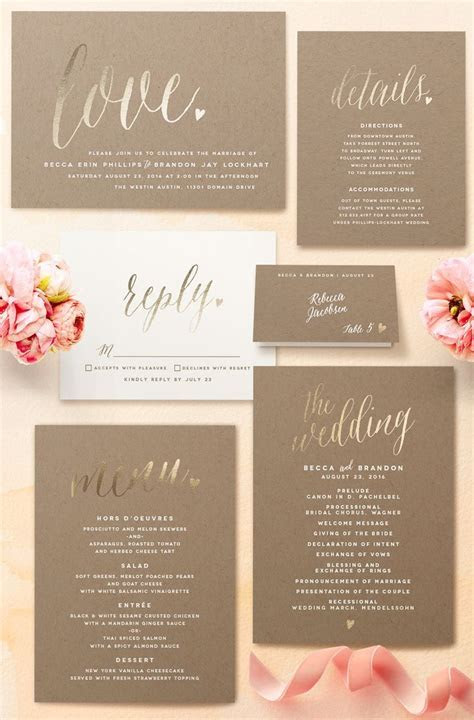 25  best ideas about Romantic Wedding Invitations on