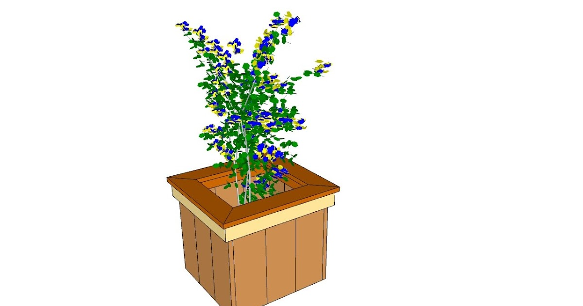 Fd Cool Wood Raised Planter Box Plans