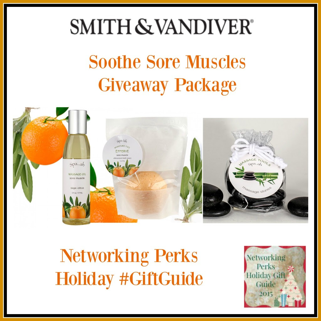 Enter the Soothe Sore Muscles Smith & Vandiver Giveaway. Ends 11/18