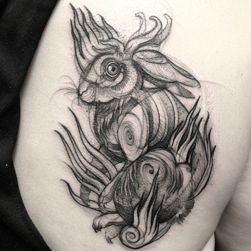 As tatuagens que parecem esboços de desenhos a lápis, por Nomi Chi 08