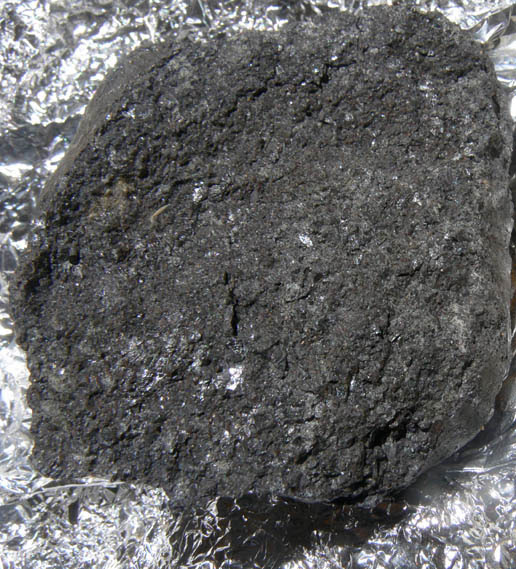 close-up view of meteorite