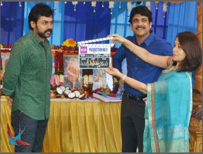 Karthi-Nagarjuna film officially launched!