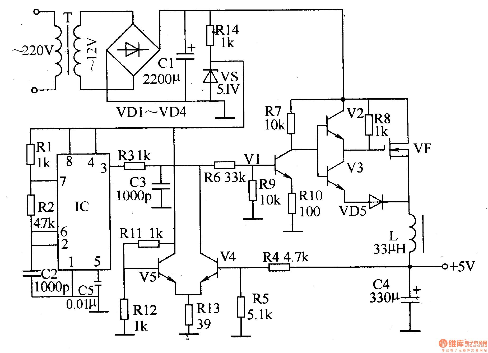 regulated power supply schematic diagram