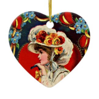 Vintage Lady Fashion Ornament ornament