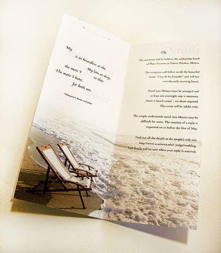 Beach Wedding Invitations Wording Ideas
