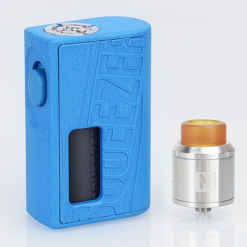 Authentic Hugo Vapor Squeezer Blue 10ml BF Squonk Mod + 25mm N RDA Kit