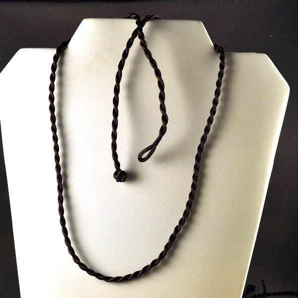 75502100-01 Rattail Cord - 20 inch Twisted Satin Rattail Necklace - Chocolate Brown (1)