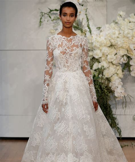 Long Sleeve Wedding Dresses at Bridal Fashion Week Spring