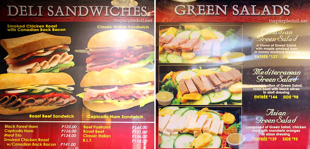 Earle's Delicatessen Menu Deli Sandwiches and Green Salads