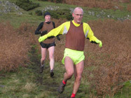 Duncan Baker chased by Mark Roberts