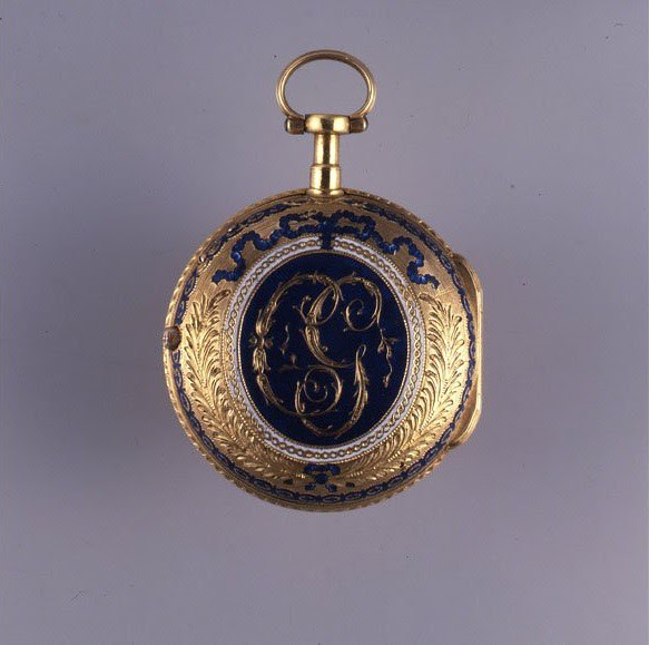 02,5 - ENAMELED POCKET WATCH, SIGNED GERVAIS ET SANDOZ. CIRCA 1780. MUSÉE INTERNATIONAL D'HORLOGERIE