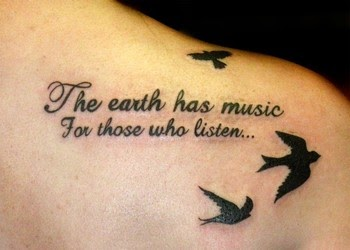 top celebrity: Tattoos Of Birds Flying