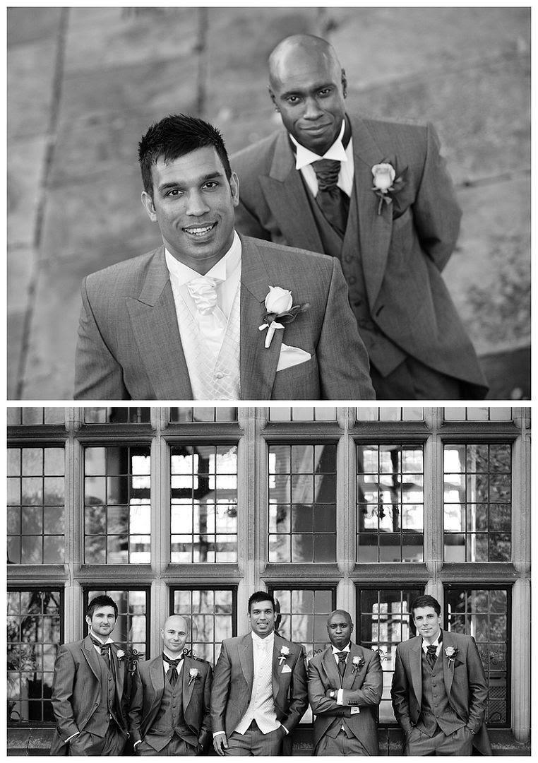 Weddings at Fanhams Hall 7, Groomsmen portrait