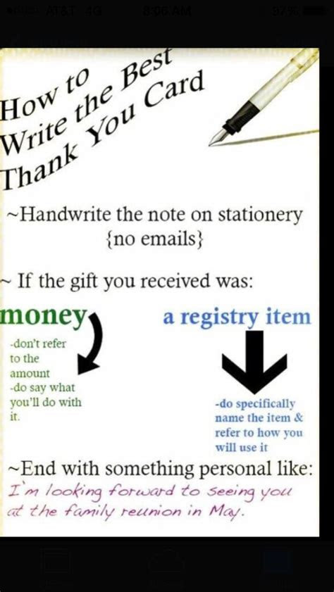 How to write a thank you card   Life Tips   Pinterest