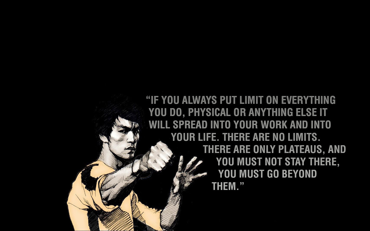 If You Always Put Limits On Everything Bruce Lee 1440x900