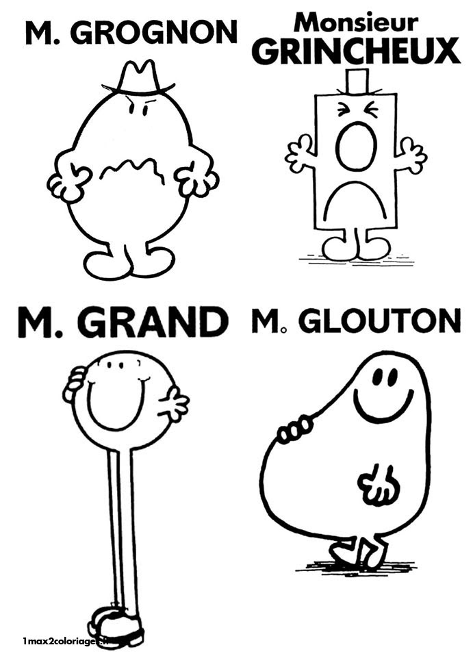 Coloriages Monsieur Madame De Roger Hargreaves Mgrognon M