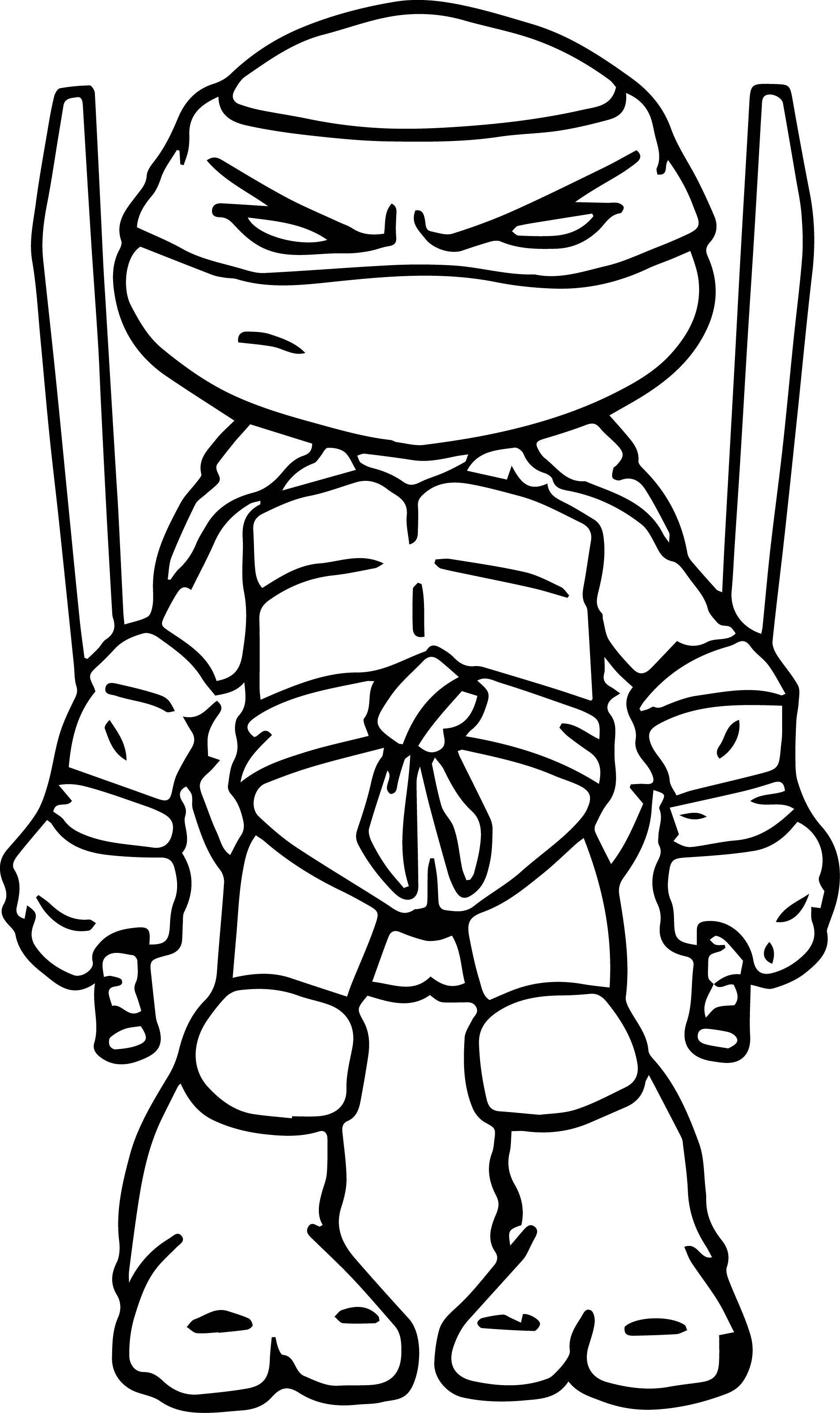 Easy Leonardo Ninja Turtle Drawing Drawing Ideas Collection